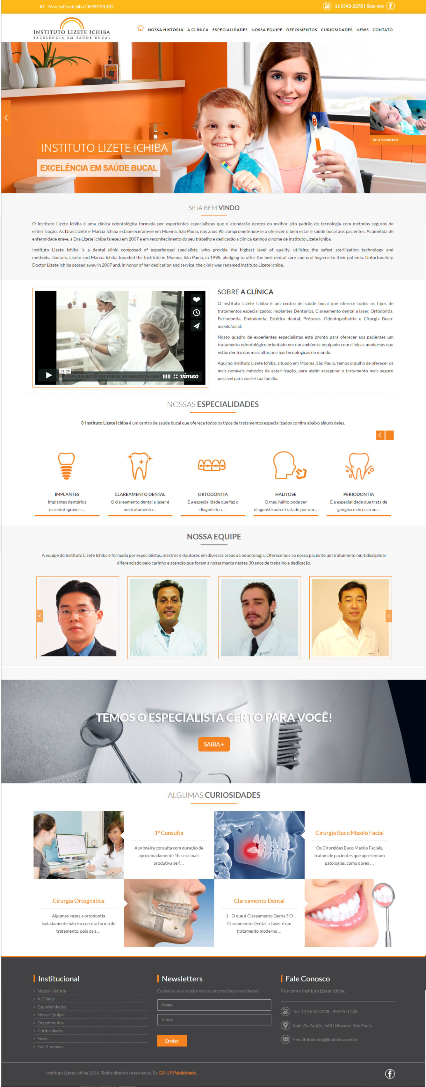 portfolio go up clinica dentista site home 1